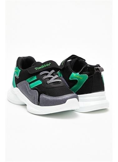 Tonny Black Çocuk Spor Ayakkabı V2k5 Siyah